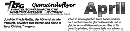 Gemeindeflyer EFG-Kevelaer April 2020